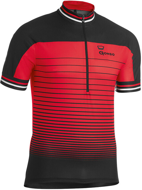 Gonso Reschen Bike Jersey Shortsleeve Men red/black